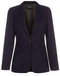 Paul Smith Navy Wool Blazer - Lyst