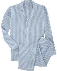 Zimmerli Stripe Pajama Set - Lyst