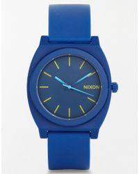 Nixon Time Teller Blue Watch A119 - Lyst