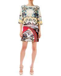 Mary Katrantzou Eve Swan Village Shift Dress - Lyst