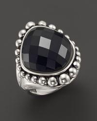 Lagos Sterling Silver Maya Onyx Dome Ring - Lyst
