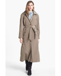 London Fog Long Trench Coat With Detachable Hood & Liner - Lyst