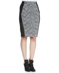 Elie Tahari Willow Tweed Pencil Skirt - Lyst