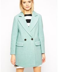 Asos Coat With Cocoon Fit In Textured Wool - Lyst