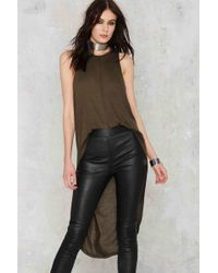 Nasty Gal | Good Times Bad Times High Low Maxi Top - Hunter Green | Lyst