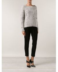 Narciso Rodriguez Dotted Sweater - Lyst