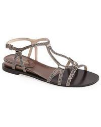 Pelle Moda 'Neal' Crystal Embellished Sandal - Lyst