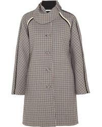 Bouchra Jarrar - Sherlock Patent-Trimmed Wool-Tweed Coat - Lyst