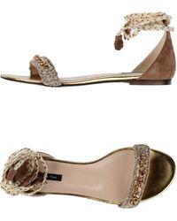 Patrizia Pepe Sandals beige - Lyst