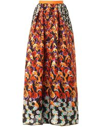 Peter Pilotto - Printed Waffletextured Maxi Skirt - Lyst