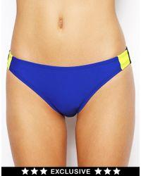 South Beach Exclusive To Asos Dee Colour Block Bikini Bottom - Lyst