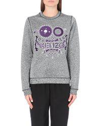 Kenzo Monster Metallic-flecked Sweatshirt - Lyst