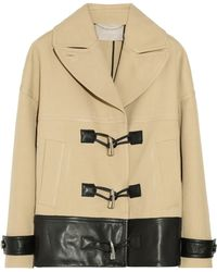 Jason Wu - Leathertrimmed Cotton and Silkblend Coat - Lyst