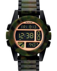 Nixon The Unit Ss Matt Black Chronograph Watch black - Lyst