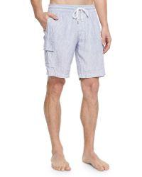 Vilebrequin Striped Linen Cargo Shorts - Lyst