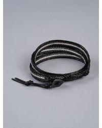 Nakamol Three Stranded Wrap Bracelet black - Lyst