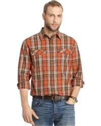 G.H.BASS - Big And Tall Mountain Twill Gingerbread Plaid Shirt - Lyst