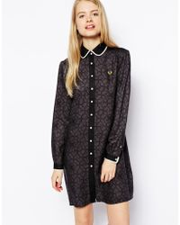 Fred Perry Geo Floral Peter Pan Dress - Lyst
