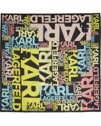 Karl Lagerfeld Printed Cotton Scarf - Lyst