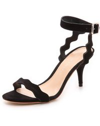 Loeffler Randall Reina Ankle Strap Sandals - Black - Lyst