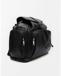 Asos Oversized Weekender Backpack black - Lyst