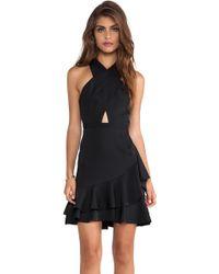 BCBGMAXAZRIA Cut Out Dress - Lyst