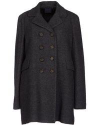 Aspesi Gray Coat - Lyst