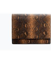 Zara Snakeprint Messenger Bag - Lyst