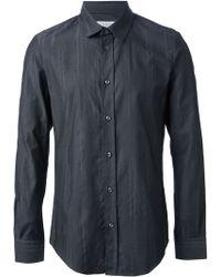 Maison Martin Margiela Gray Textured Shirt - Lyst