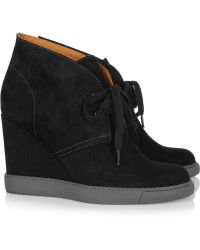 See By Chloé Suede Lace-up Ankle Boots - Black