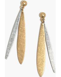Madewell Petal Earrings - Lyst