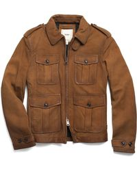 Todd Snyder Leather Quad Jacket - Lyst