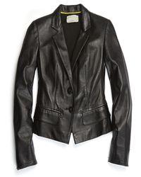 Nicole Miller Leather Blazer - Black