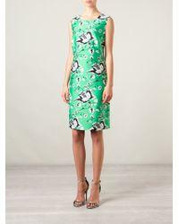 Diane von Furstenberg Floral-Print Wool and Silk-Blend Dress - Lyst