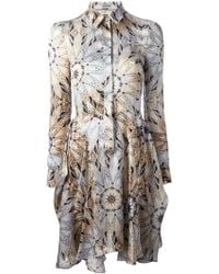 Philosophy Abstract Floral Print Shirt Dress - Lyst