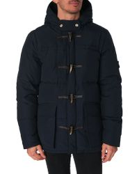 Penfield Landis Navy Hooded Parka - Lyst