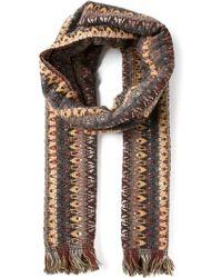 Missoni Chevron Knit Scarf - Lyst