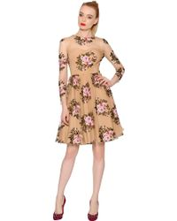 Blumarine Floral Embroidered Viscose Tulle Dress - Lyst