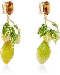 Dolce & Gabbana | Crystal Clip-on Lemon Earrings | Lyst