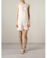 3.1 Phillip Lim Floral Lace Insert Dress - Lyst