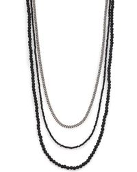King Baby Studio |  Triple Strand Necklace | Lyst