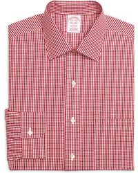 Brooks Brothers Non-Iron Madison Fit Gingham Dress Shirt - Lyst