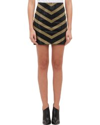Balmain - Embellished Chevron Mini Skirt - Lyst