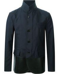 Valentino Leather Panel Jacket - Lyst