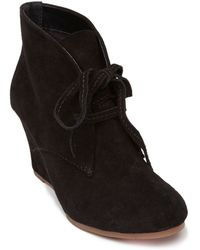 Dv By Dolce Vita Pellie Suede Laced Wedge Booties - Lyst