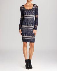 BCBGMAXAZRIA Bcbg Max Azria Dress  Tanya Lace Stripe - Lyst