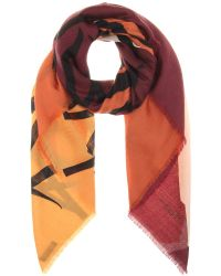 Burberry Prorsum Printed Cashmere Scarf - Lyst