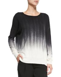 Vince Painted Ombre Knit Sweater - Lyst