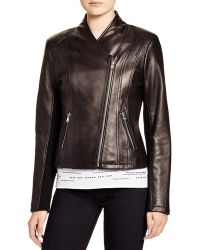 da78f2a0 Leather Moto Jacket - Bloomingdale's Exclusive - Black