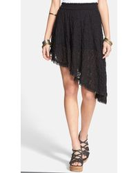 Free People 'Tea Party' Smocked Asymmetrical Skirt - Lyst